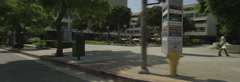 Right Side view of a Driving Plate: Car travels on Flower Street in Los Angeles, Stock Footage
