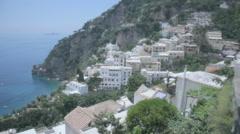 Houses on the Amalfi Coast in Positano Italy - 29,97FPS NTSC - stock footage