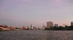 Chao Praya river in Bangkok Stock Footage
