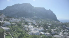 Stock Video Footage of Houses under Monte Solaro on Capri Italy - 25FPS PAL