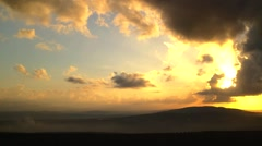 North israel mountain landscape sunset Stock Footage