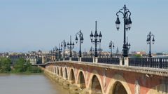 Bordeaux in a summer sunny day Stock Footage