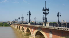Bordeaux in a summer day Stock Footage