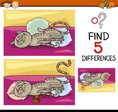 differences preschool task - stock illustration