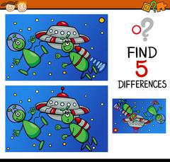 differences for preschoolers - stock illustration