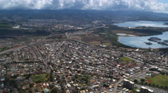 Over Village Park and Pearl City, Hawaii. Shot in 2010. Arkistovideo