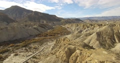 4k Aerial View in the desert, Sierra Alhamila, Spain - stock footage