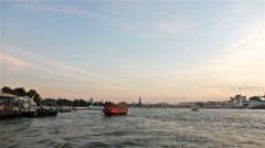 Bangkok Chao Praya river hyperlapse Stock Footage