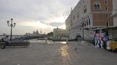View of a bridge, Rio de Palazzo and Palazzo Ducale in Venice Stock Footage