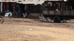 Africa life street market place Stock Footage