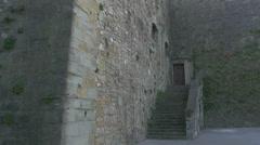Old door of Castle of Saint Giusto, Trieste Stock Footage