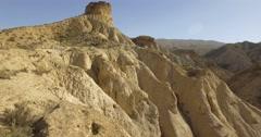 4k Aerial View in the desert, Sierra Alhamila, Spain - stock footage