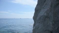 Recreational Boats near Positano Coast Italy - 29,97FPS NTSC Stock Footage