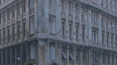 Beautiful old building in Trieste Stock Footage