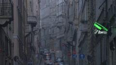 Traffic on Via Francesco Crispi street, Trieste Stock Footage