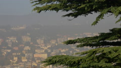Trieste seen from Castle of Saint Giusto Stock Footage