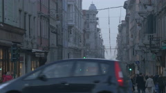 Crossroad in Trieste Stock Footage