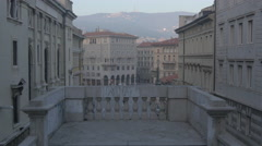 Piazza Carlo Goldoni seen from the Giant Stairway of Trieste Stock Footage