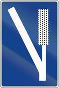 Road sign used in Spain - Emergency braking area Piirros