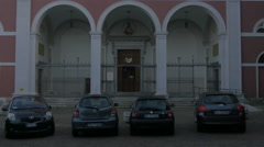 Tilt up view of Chiesa di Sant'Apollinare Martire in Trieste Stock Footage
