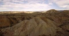4k Aerial View in the desert, Sierra Alhamila, Spain Stock Footage