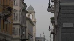 Acquario Marino della Città di Trieste seen from Piazza Attilio Hortis, Trieste Stock Footage