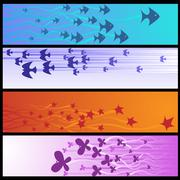 Nature banners Stock Illustration