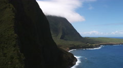 Along the rugged coastline of Molokai. Shot in 2010. - stock footage