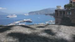 Revealing Marina Piccola Sorrento Italy - 29,97FPS NTSC Stock Footage