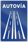 Road sign used in Spain - Motorway Stock Illustration