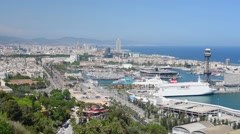 Barcelona in a sunny summer day Stock Footage