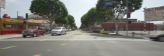 Left Side view of a Driving Plate: Car travels on Pico Boulevard in Los Angeles - stock footage
