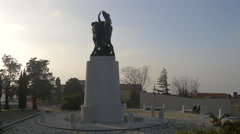 The First World War Memorial in Trieste Stock Footage