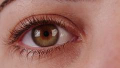 Close up of a woman's eye,special light brown color Stock Footage