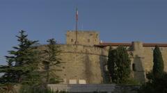 Castello di San Giusto's walls in Trieste - stock footage