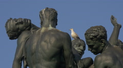 Close up view of Monumento ai Caduti in Trieste Stock Footage