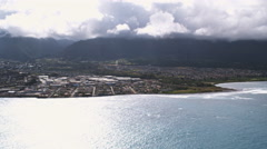 Wide view of Kahului, Hawaii. Shot in 2010. Arkistovideo