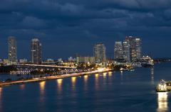 Biscayne Bay in Miami Florida - stock photo