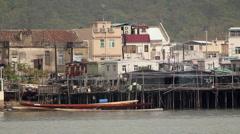 Tai O Fishing Village.  Hong Kong. - stock footage