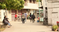 Village on Lantau Island.  Hong Kong. Stock Footage