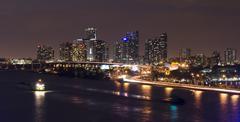 Biscayne Bay in Miami Florida Stock Photos
