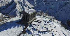 Armenia, the pagan temple of the Sun in Garni, I century - stock footage