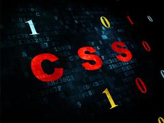 Stock Illustration of Software concept: Css on Digital background