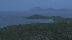 Stormy Day on Costa Smeralda Sardinia Italy - 25FPS PAL Stock Footage