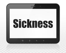 Healthcare concept: Tablet Pc Computer with Sickness on display Stock Illustration