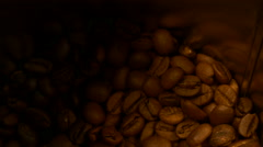 Drop coffee beans Stock Footage