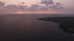 Sunset at Kona, Hawaii. Shot in 2010. - stock footage
