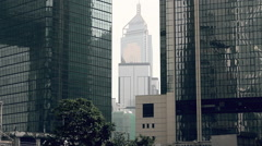 Central Plaza skyscraper in Hong Kong Stock Footage