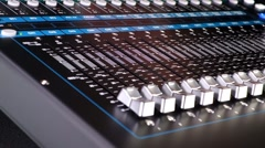 Parts of digital mixer with motion Stock Footage