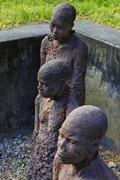 African Slave trade statue Stock Photos
